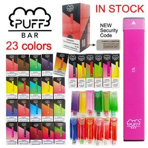Puff Bar Başlangıç Seti Tek Vape Pen'in 1.3ml 280mAh Pil Cihazı Güvenlik Kodu Vaporizer Kalemler ecig Ambalaj ile Pod E sigaraları boşaltın