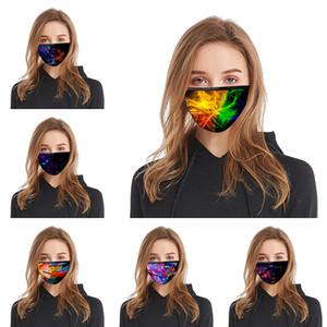 Dazzle colore 3D stampa Designer cotone maschera viso riutilizzabile maschere Out Door Sport equitazione Maschere Cotone Designer mascherina libera di trasporto