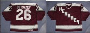 Donna-Uomo della gioventù Vintage AHL Hershey Bears personalizzato Hershey Bears 26 Butsayev Jersey hokey Jersey di formato S-5XL o personalizzato qualsiasi nome o il numero