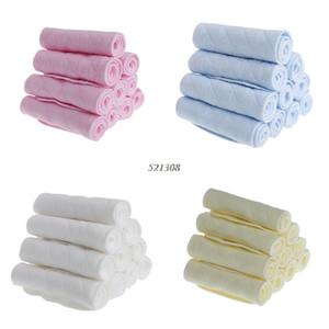 10шт много Tsaujia 3 слоя Экологического хлопка ткани младенец подгузник Вставка Многоразовых моющиеся Подгузники Подгузники Изменение APR12_30