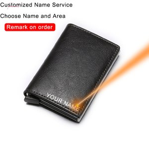 Dienqi Rfid Card Men Wallets Money Bag Male Vintage Black Purse 2020 Small Leather Smart Slim Wallets Magic Mini Wallets Thin