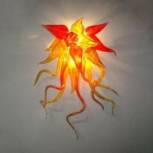 Cheap Glass Art Recados Lighting Mão Modern vidro fundido Lâmpadas de parede Arte decorativa italiano arandela com LED Fonte de Luz