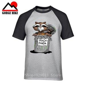 BASURA PANDA HUMOR DIVERTIDO ANIMAL SALVAJE ANIMAL DOMÉSTICO para hombre procyon lotor Camiseta principal Harajuku Tops bote de basura cohete oso camiseta
