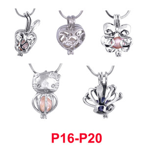 Cage Pendant Necklace 2019 new Love Wish natural Pearl With Oyster Pearl Mix Design Fashion Hollow Locket Clavicle Chain Necklace wholesale