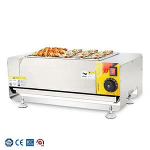 Grill électrique sans fumée intérieur ménage électrique barbecue grill poisson kebab grill en acier inoxydable commercial 110 v 220 v bbg four