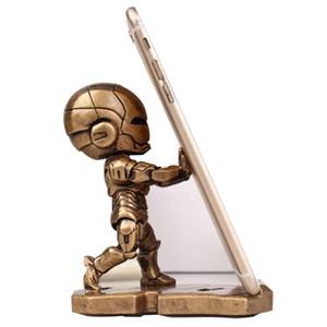 Telefone móvel homem de ferro vingador suporte dos desenhos animados marvel escritório mesa de boneca acessórios de mesa suporte do telefone móvel