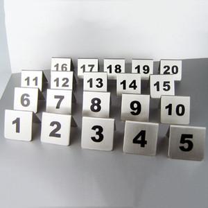 Оптовая номер 1-100 из нержавеющей стали номера таблицы карты металлический номер вывески стол знак карты ресторан отель кафе-бар инструменты DBC DH0595