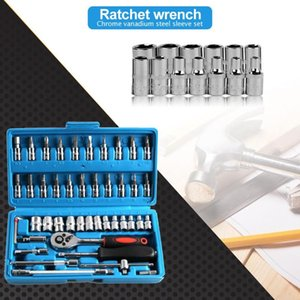 46pcs Ratchet Wrench Sleeve Set Kit For Car Bicycle Hardware Repair Tools Home Tool Set Household Tool