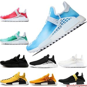 Human Race Trail For Men Women Running shoes Pharrell Williams Nerd Black White Yellow Red Cream Fashion Designer Sports Sneakers Size 36-47