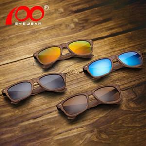 Grana del legno marchio occhiali da sole UV400 polarizzato maschio di guida gli occhiali da sole uomini # PS001