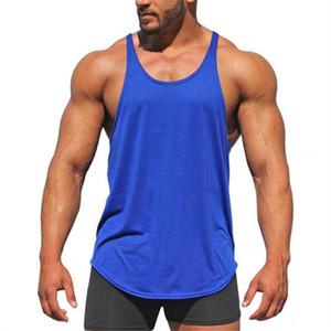 Muscleguys Gyms Майки Мужская спортивная одежда Майка Бодибилдинг Мужская одежда для фитнеса Тренировка спины Y Жилет без рукавов