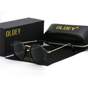 OLOEY 2019 новые солнцезащитные очки лучи женщин вождения зеркала старинные для женщин отражающие плоские линзы солнцезащитные очки женский oculos UV400