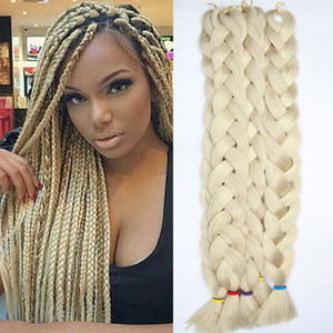 Synthetic Jumbo Xpression Braids Hair 165g 41inch fold With Good Quality Synthetic Crochet Braiding Hair Extensions