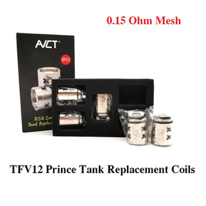 TFV12 Prince Tank Replacement Mesh Coil 0.15Ohm Coils Heads Fit V12 Prince Cobra Tanks DHL Free Shipping