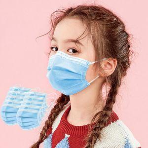 Adulti Bambini ragazzo monouso maschere per il viso con orecchio Elastic Loop 3 pieghe traspirante e confortevole per il blocco di aria della polvere inquinamento protezione