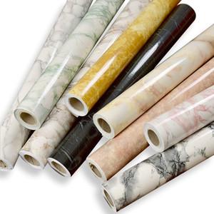 Patrón de mármol imitación pegatinas autoadhesivas papel pintado renovación muebles baño gabinete pegatina pared papeles decoración del hogar