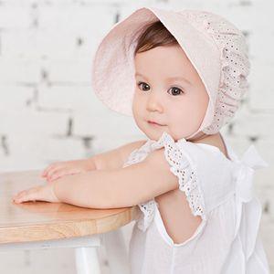 0-3 y summer new baby girl hat lace flower hollow bucket baby hat girls sun hat outdoor beach cap kids children caps