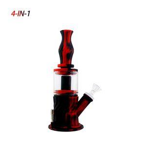 Pipe Sigara 1 Silikon Dab Oil Rig Konsantre Silikon Su Borusu Bong Kırılmaz Waxmaid Yeni 4