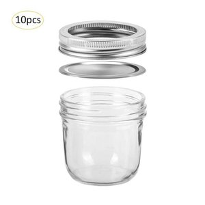 10pcs / lot 100ML Plomo Glass Jar gratuito botella de almacenamiento de Caviar Cubilose miel Encurtidos Inicio decoración de la cocina