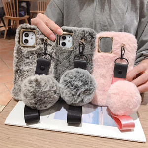 High quality hair balls phone case for iPhone 11 pro max 6 7 8 plus X XS silicone protective case soft shell lishing-rope