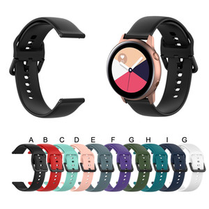20mm correa de silicona para Samsung Galaxy reloj activo R500 Gear reloj clásico del engranaje del deporte activo S2 Amazfit BIP 2 Sustitución Banda Correas