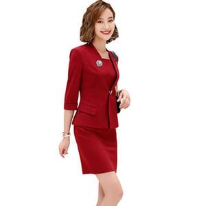 Bayanlar Akşam Zarif Kostüm Ceket Kadın Elbise Takım Elbise Takım Office Aşınma Work ile Kadın Örgün Elbise Blazer Kadınlar Elbiseler