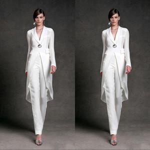 بسيط مصمم جديد من والدة العروس الدعاوى بانت مع سترة طويلة الأكمام أم فستان العريس