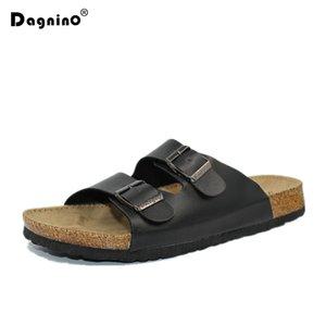 Dagnino Erkekler Yaz Plaj Boş Mantar Terlik Moda Çift Ayaklı Rahat ayakkabı Unisex Artı Büyüklüğü 35-45 A3 Y200706 Flops Ayakkabı