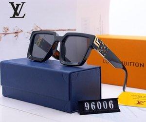 Fashion round sunglasses sunglasses designer brand black metal frame black 52mm glass ribbon no box