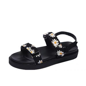 femmes chaussures de sport mode impression plateforme Triple Noir Sandales Hot Soldes d'été de la taille de l'extérieur 35-40
