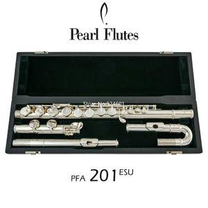 Venta caliente de la perla Alto flauta- PFA-201ESU curvo Cabezas de Split 16 teclas cerrado agujero C Tune níquel plata con el caso