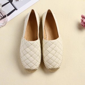 2020 New Fashion Luxury Designer Womens Shoes Girls Espadrilles Flat For Summer Square Shape Line Big Size Double Metal Casual Shoes xshfbcl