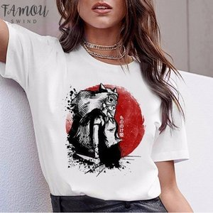 Spirit Away Ghibli Japanese Anime Totoro Miyazaki Hayao Anime T Shirt Flutter Sleeve Tshirt T Shirt Women Female Femme Cartoon Clothes
