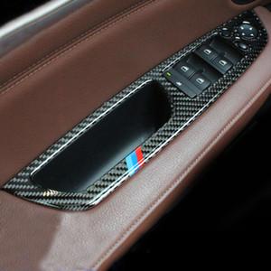 Fibre de carbone Lifter Control Forfa Fenêtre Switch Switch Decor Panneau d'accouchement Panneau de voiture ACCESSOIRES INTÉRIEURES POUR BMW X5 E70 X6 E71