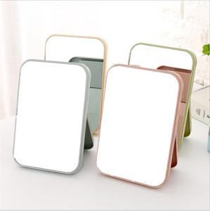 Sıcak 8 adet portatif Makyaj Ayna Seyahat Deri Masaüstü Güçlü Katlanabilir Tablo Kompakt Aynalar Kozmetik Makyaj Ayna Standı
