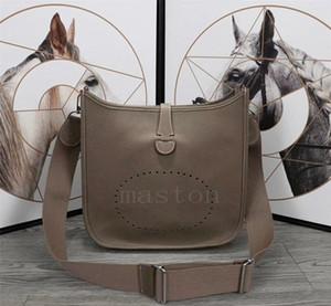 GM En kaliteli lüks geninue deri bayan çantası evelyn çanta klasik togo tasarımcı bayan omuz çantaları h Dana derisi çantayı oymak