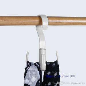 htga Support de rangement ceinture nouée Organizer 360 degrés de rotation Hanger Crochet Armoire Closet Espace économie Scarfs Bra Holder Accueil Fournitures