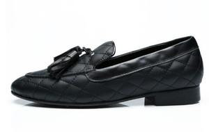 Gli ultimi uomini slip-on plaid nappa scarpe moda mocassini di alta qualità street smoking scarpe scarpe da lavoro su misura uomo Eu38-EU46