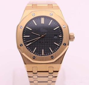 Venda quente Mens Watch 18 K Rose Gold Aço Inoxidável Vidro de Safira 42 MM Transparente Tampa Traseira Automática Relógios Mecânicos frete grátis
