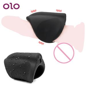 Olo Künstliche Vagina Vibrator Silikon Männlicher Masturbator Cup 10 Modus Erotik Sex Spielzeug Für Männer Erwachsenes Produkt SH190801