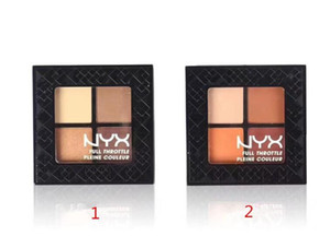 DHL livre NYX Cosméticos 4 Cores FULL THROTTLE Matte Eyeshadow Palette Fundação Maquiagem Paletas Da Sombra de Olho