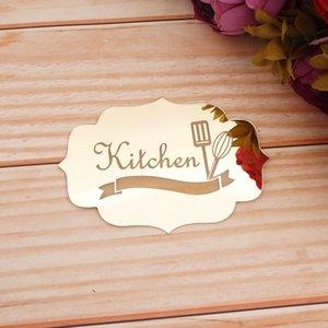Настенные наклейки овальной формы Знак кухни стены наклейки двери наклейка искусства Индикатор Зеркало Пользовательские персонализированных Home Decor 14 * 10см 20 * 15см