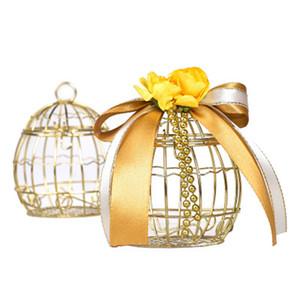Свадебные Железного ящик Birdcage Свадебных конфеты Box Золото MATEL коробка Romantic кованые Свадьбы Благоприятной 9.5 * 7.3cm Только Candy Box Не ленточка