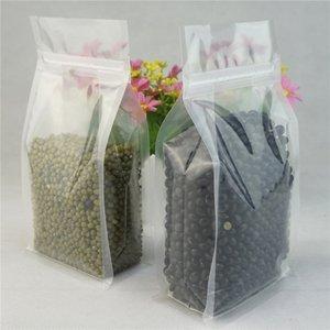 Embalaje de chocolate Doypack, 100pcs / lot 18x28 + 5 cm Transparente Stand Up Ziplock Packing Bag Pliegue lateral, Transparencia Plástico Cremallera Saco de almacenamiento