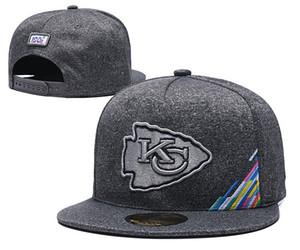 2019 New PANTHERS DAUPHINS KC Snapback Chapeaux Casquettes Équipe headwears Nouveaux Sports Caps Anthracite Chapeaux arc