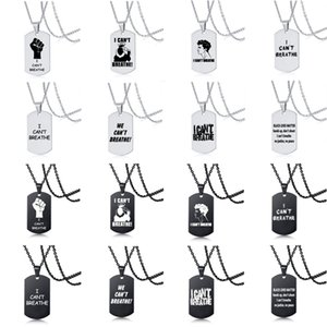 New Arrival Stainless Steel I Cant Breathe Pendant Necklace Women Men Letter Chain Necklace Black Lives Matter