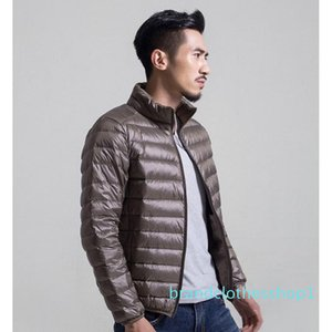 Designer Mens Down Jacket Mens New Thin Stand Collar Winter Jackets High Quality Keep Warm Mens Luxury Outwear Down Coat Plus Size S-6XL
