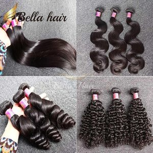 9A Brazilian Hair Bundles 3 Bundles Straight Body Deep Wave Loose Wave Virgin Human Hair Weft Extensions Cheap Double Weft Bellahair