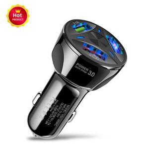 QC3. 0 Triple USB Car Charger Quick Charge 3.0 3-портовое быстрое зарядное устройство для автомобильного зарядного адаптера для Samsung Note10 S10 Huawei Xiaomi