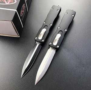 الراقية Micro التكنولوجيا UT B2 عمل مزدوج السيارات السكاكين d2 بليد الأسود بأكسيد 6061-T6 مقبض edc التخييم سكين التكتيكي